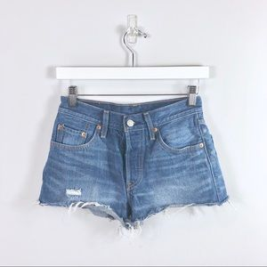 Levi's Blue Denim Shorts Size 24